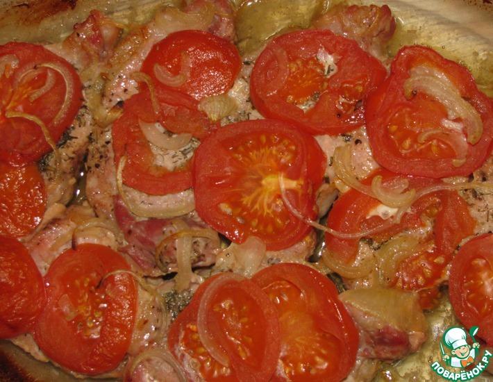Рецепт: Запеченное мясо с овощами