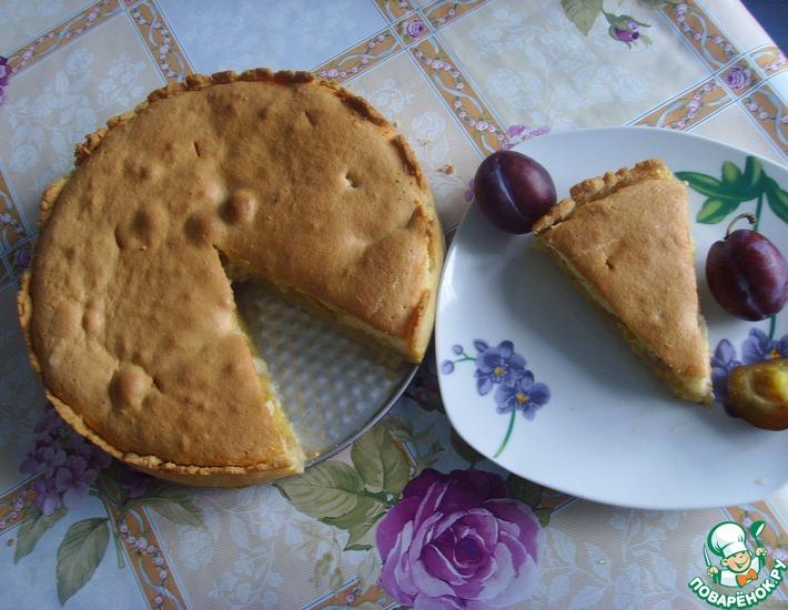 Рецепт: Пирог со сливами Двойное удовольствие
