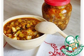 Рецепт: Кабачки на зиму с томатной пастой