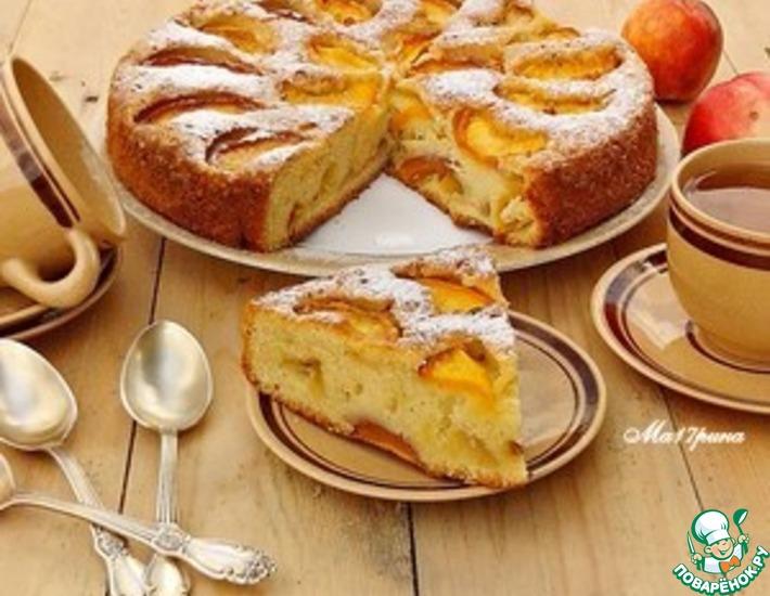 Рецепт: Пирог с нектаринами