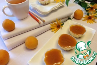 Рецепт: Мини-чизкейки с абрикосовой глазурью