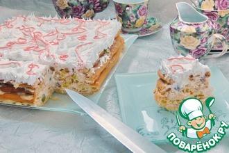 Рецепт: Заварной торт Необычная нежность