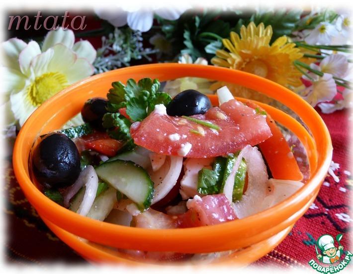 Рецепт: Салат болгарский
