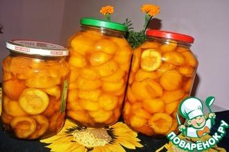 Рецепт: Дольки персиков в сиропе на зиму