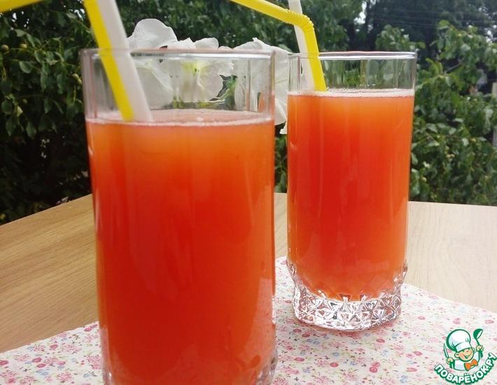 Рецепт: Персиковый лимонад