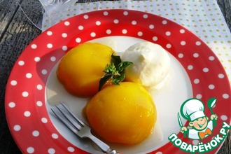 Рецепт: Десерт Персиковое удовольствие