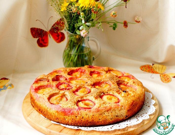 Рецепт: Цельнозерновой пирог со сливами