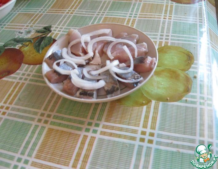 Рецепт: Соленая рыба По-домашнему