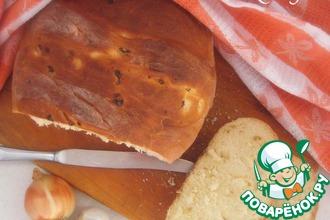 Рецепт: Луковый хлеб на сыворотке
