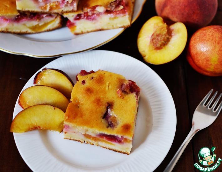 Рецепт: Персиково-сливовый пирог