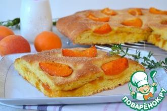 Рецепт: Фокачча с абрикосами