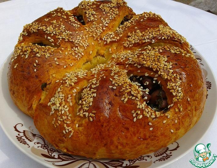 Рецепт: Пирог с оливками