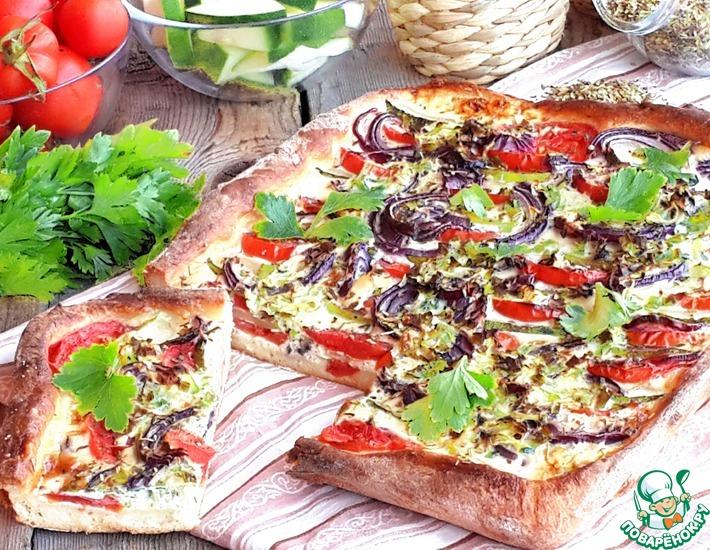 Рецепт: Пирог с цуккини и помидорами