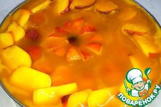 Рецепт: Персиковый торт-желе
