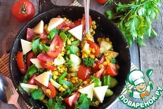 Рецепт: Горячая овощная сковорода