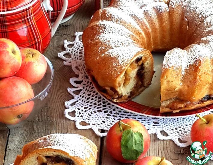 Рецепт: Яблочный рулет Семейное счастье