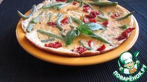 Рецепт Омлет со стручковой фасолью и вялеными помидорами