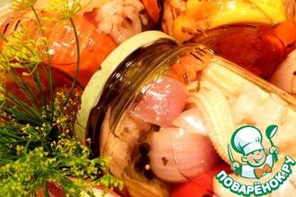 Рецепт: Ассорти из овощей в пряном маринаде