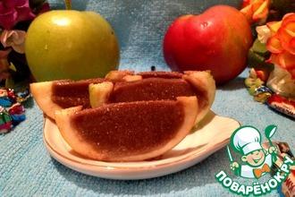 Рецепт: Яблоки с желе Ириска