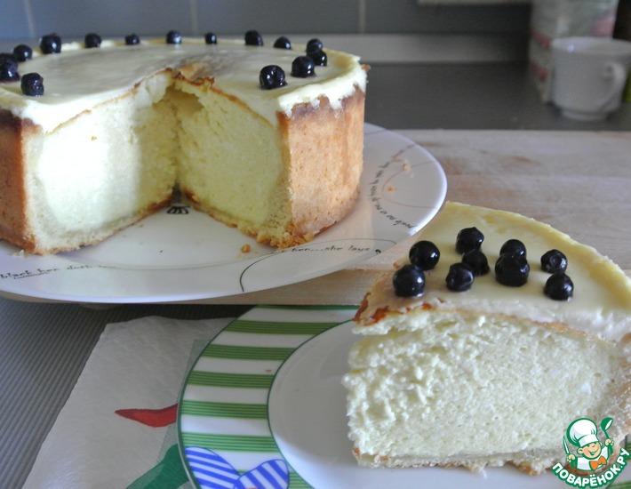 Рецепт: Песочный пирог с творогом