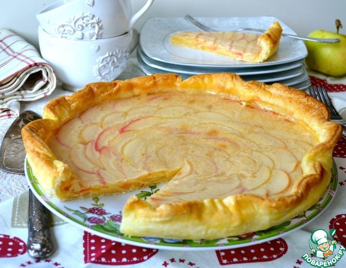 Рецепт: Яблочно-ванильный тарт