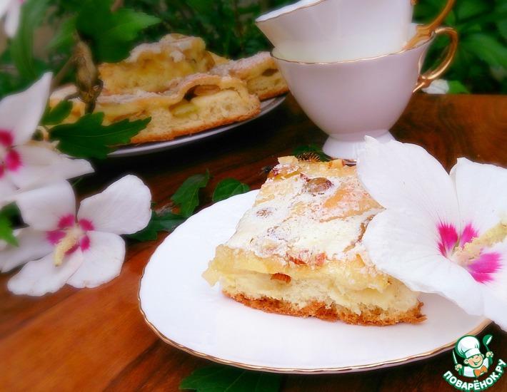 Рецепт: Дрожжевой пирог с виноградом