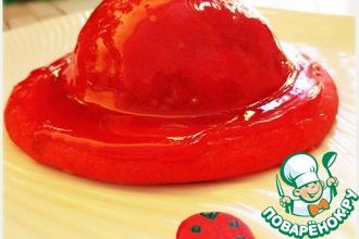 Рецепт: Пирожное с начинкой из карамелизированных персиков