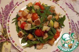 Рецепт: Салат с креветками и черри