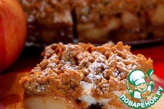 Рецепт: Польский яблочно-ореховый пирог