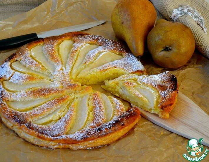 Рецепт: Грушевый тарт с франжипаном