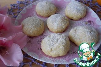 Рецепт: Апельсиновое печенье в СВЧ печи