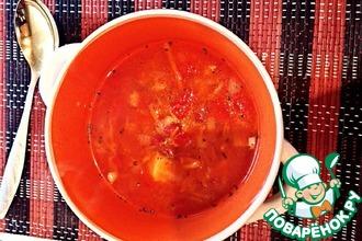 Рецепт: Томатный суп с фасолью в мультиварке