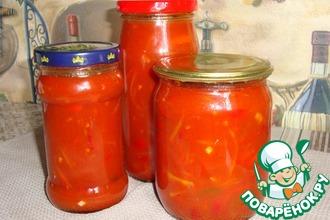 Рецепт: Лечо-аджика из острого перца