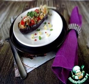 Рецепт Баклажаны, фаршированные макаронами