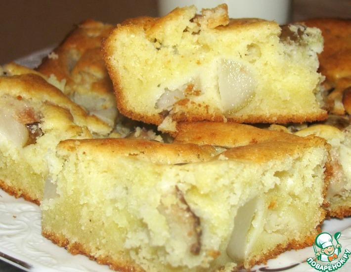 Рецепт: Сметанный кекс с грушей