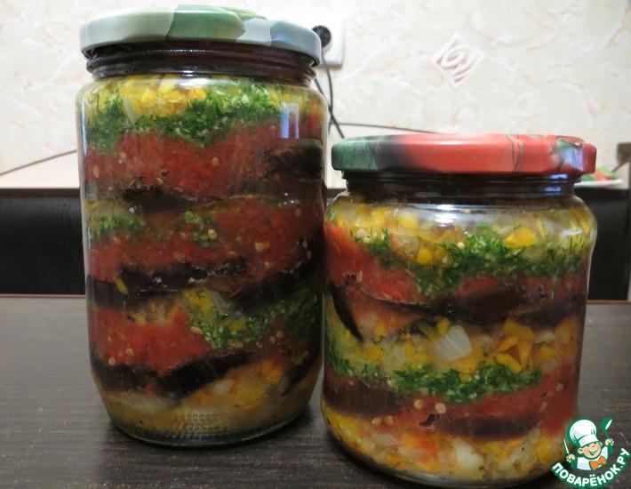Рецепт: Баклажаны в медовом маринаде