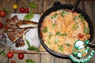Рецепт: Курица миланьезе со спагетти от Джейми Оливера