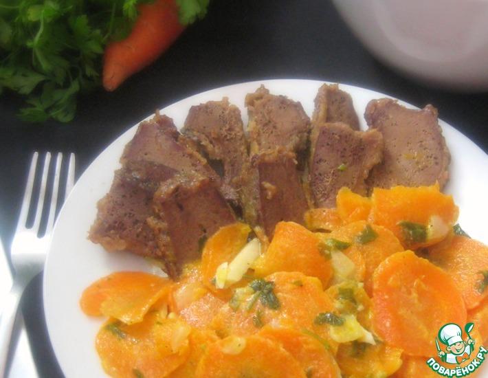 Рецепт: Морковный гарнир с петрушкой