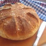 Хлеб на сыворотке с овсяными хлопьями