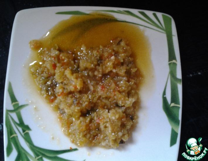 Рецепт: Икра из зеленых помидоров и сладкого перца