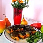 Квашеные баклажаны с овощами