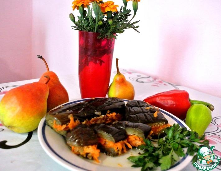 Рецепт: Квашеные баклажаны с овощами