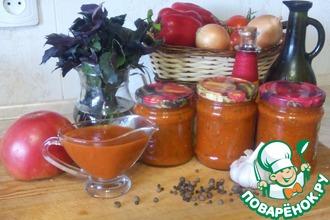 Рецепт: Универсальный томатный соус с базиликом