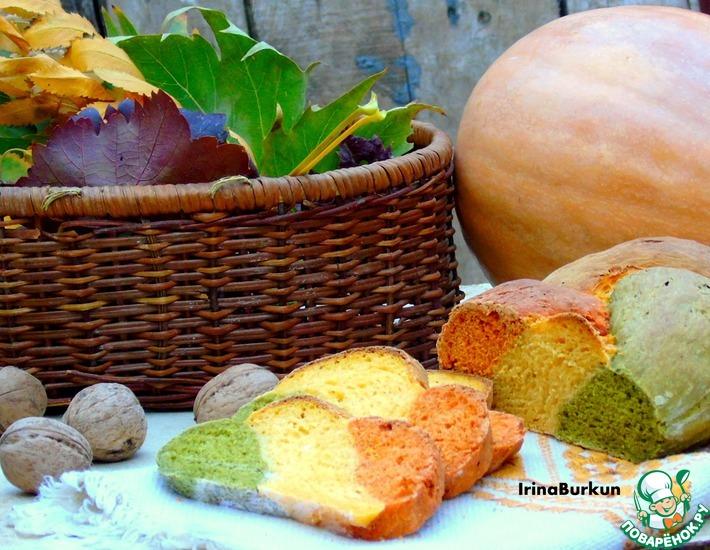 Рецепт: Трехцветный хлеб