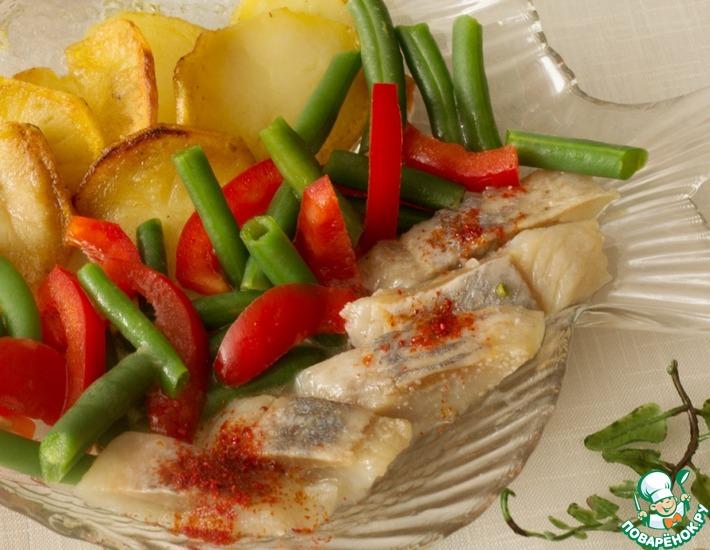 Рецепт: Салат из сельди с постной заправкой