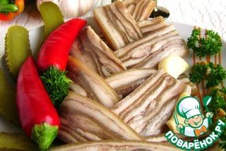 Рецепт: Деликатес из свиной шкурки «Забайкальский»