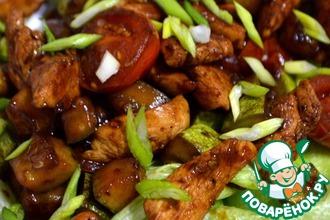 Рецепт: Теплый салат Терияки