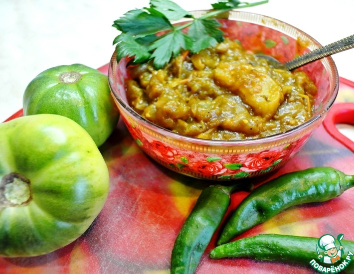 Рецепт: Чатни из зеленых помидоров