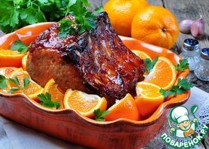Baked pork loin in Mandarin sauce