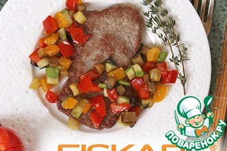 Рецепт: Отбивная с овощным рагу